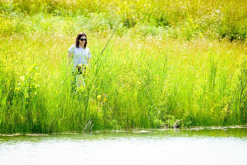 Funk  Wabashiki Sarah and Mia  fishing June 2016