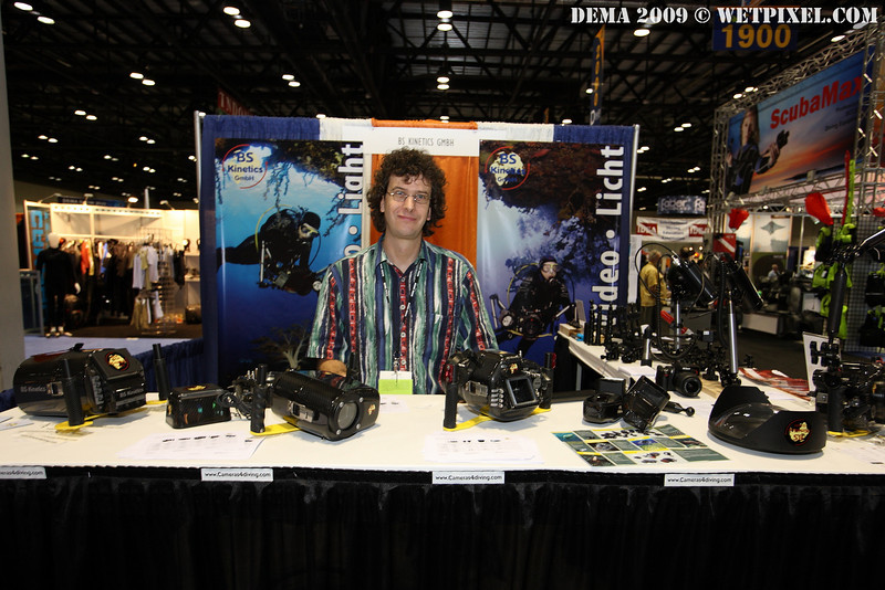 Bodo Sutterer and the BS Kinetics booth