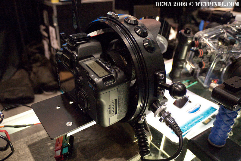 Front of Backscatter Bluewater Dropcam with Canon 5D Mark 2 attached