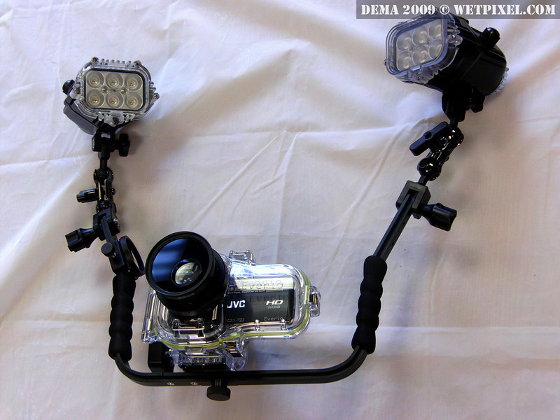 Bonica JVC Dive HD300/320 housing, tray, arms, lights