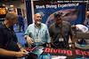 Mike Neumann, Gary Atkinson and Lawrence Groth at the Great White Adventures booth