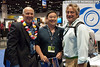 Underwater photographers Marty Snyderman, Norbert Wu and Douglas Seifert at the Wetpixel booth