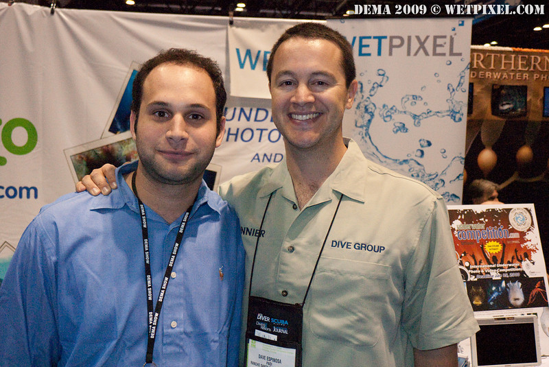 Matt of DPG and David Espinosa of Scuba Diver Australasia
