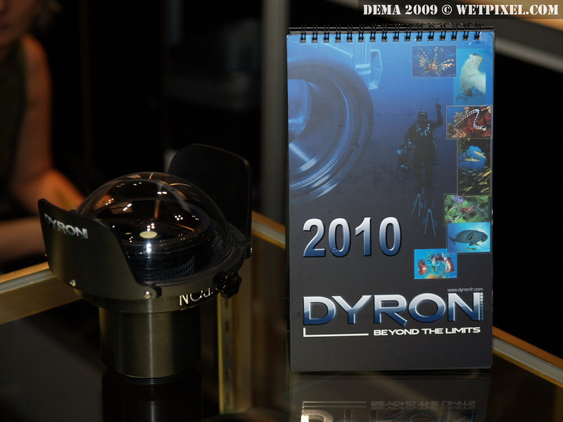 Dyron's new Fisheye Pro HD, a fisheye lens with a low-dispersion, UV-coated glass dome 'suitable for HD' with low chromatic aberration.