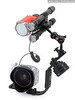 INON S2000 strobe and two modeling lights attached to strobe holder adapter