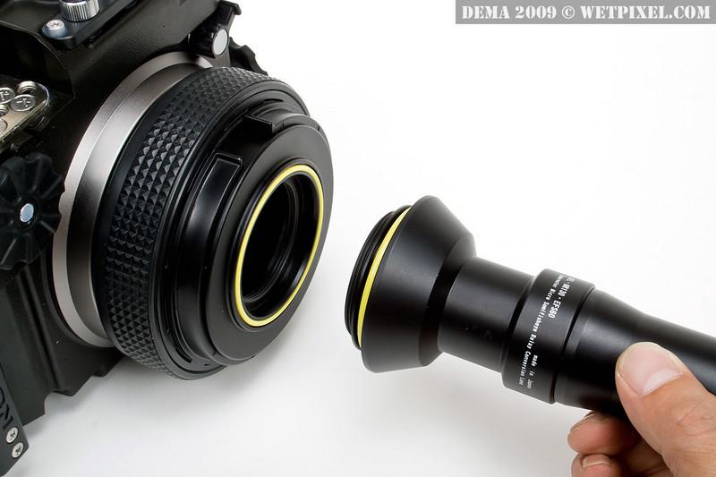 INON: Attachment of semi fish-eye relay system lens