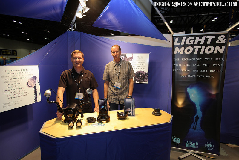 Dan Baldocchi and Daniel Emerson at the Light & Motion booth