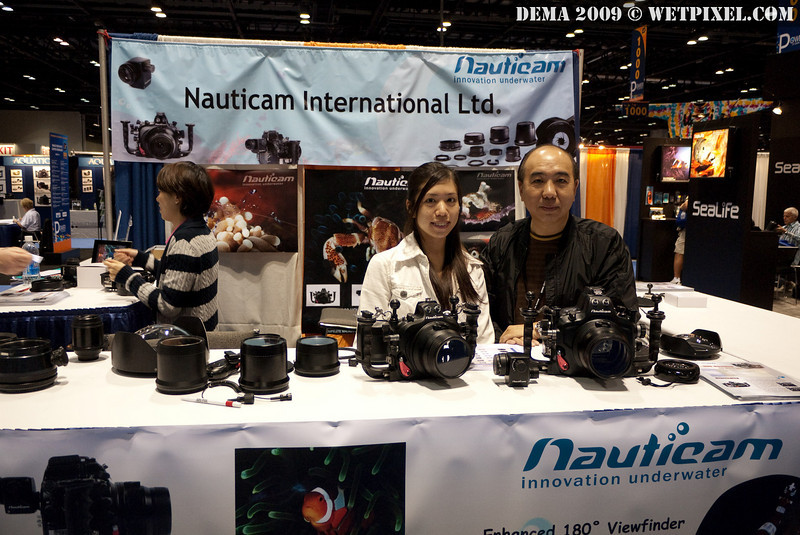 Edward and Jacqueline Lai at the Nauticam booth