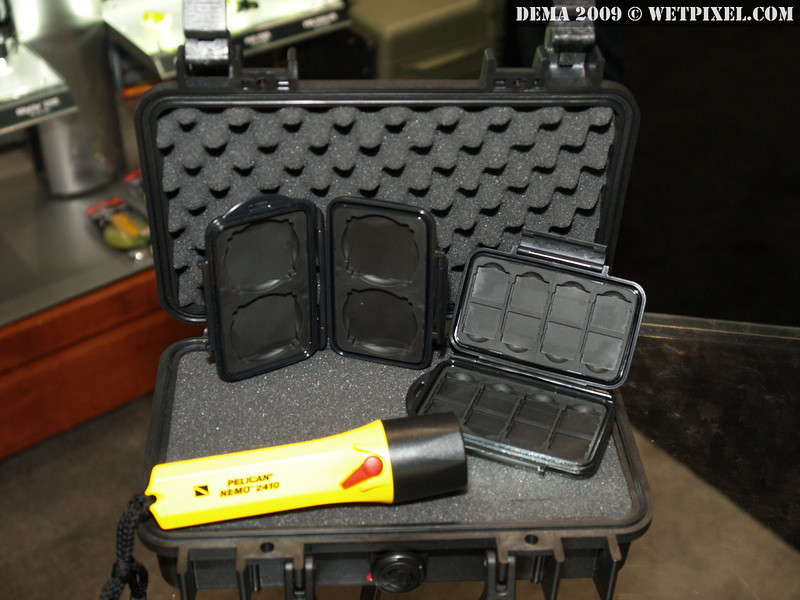 The Pelican 1170, CF and SD card cases, and Nemo 2410 dive light.