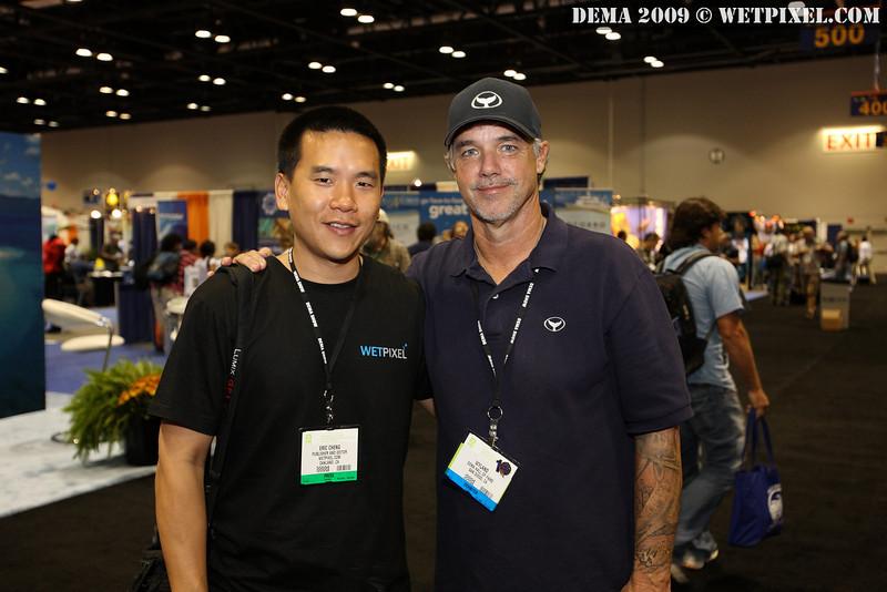 Eric Cheng and Wyland at DEMA