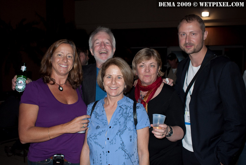 Lark Kirkegaard and friends at the Wetpixel / DPG party