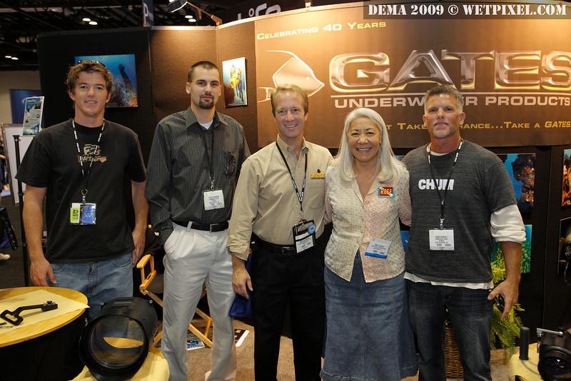 Ben, Travis Swanson, John Ellerbrock, Anna DeLoach and Mark Rackly at the Gates booth