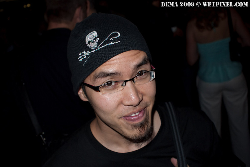 Adam Lau sports a Sea Shepherd beanie