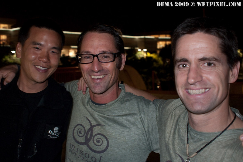 Eric Cheng, Andy Miners (of Misool Eco Resort) and Shawn Heinrichs
