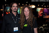 Berkley White and Ric Frazier at the Backscatter booth