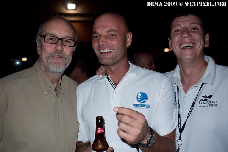 John Bantin, Frank Van Der Linde, Mark Shandur of Worldwide Dive and Sail