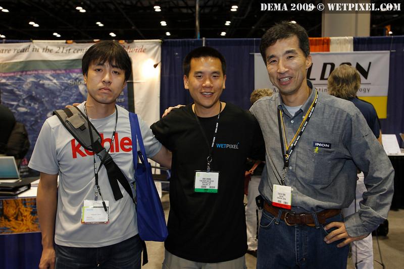 Fukashi Torii, Eric Cheng and Takuya Torii (of INON)