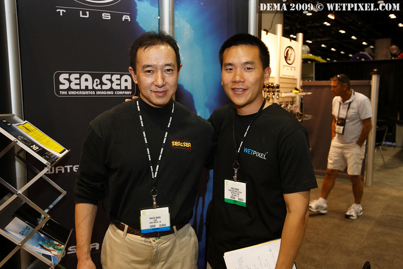 Eric Cheng with Sea & Sea Japan's Shuya Koda