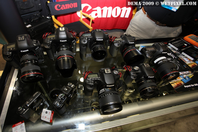 A selection from Canon's digital SLR and prosumer cameras