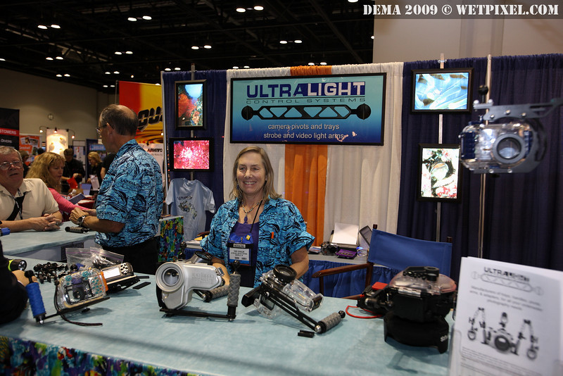 Terry Schuller and the UltraLight Control Systems booth