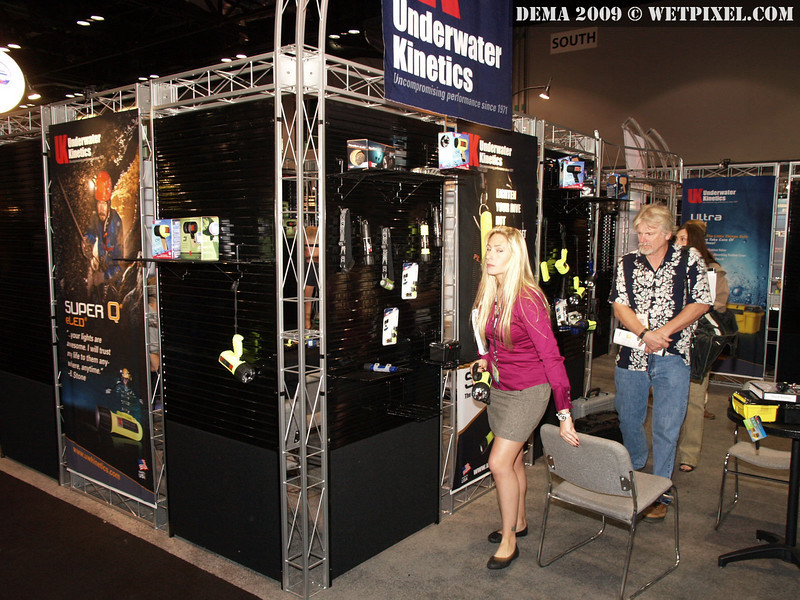 The Underwater Kinetics booth