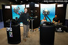 Joe Holley, David Ulloa and Dee at the Marine Visions / Underwatervideographer.com booth