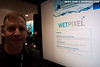 Joe Holley of UnderwaterVideography.com shows off the Wetpixel news portal