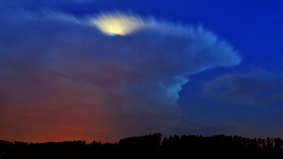 Nachtgewitter mit Mond | Nocturnal thunderstorm with moon