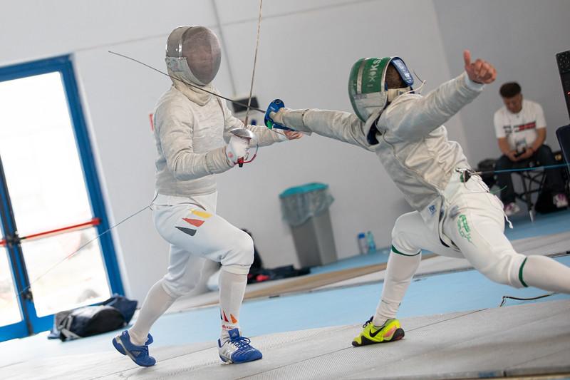 Das Team der Säbel-Fechter gewinnt nach einem starken Wettkampftag überraschend die Silbermedaille bei der Universiade 2019 in Neapel. 7. Juli 2019, © Arndt Falter