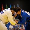 Judoka Benjamin Bouizgarne scheidet im Achtelfinale in der offenen Klasse aus. 6. Juli 2019, © Arndt Falter