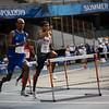 Bei der Universiade 2019 in Neapel erreicht Joshua Abuaku als Vierter seines Halbfinals mit einer Zeit von 50,24 Sekunden als ingesamt Achter das Finale über 400 Meter Hürden. 10. Juli 2019, © Arndt Falter