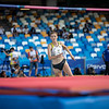 Bei der Universiade 2019 in Neapel gewinnt Imke Onnen die Bronzemedaille im Hochsprung. 13. Juli 2019, © Arndt Falter