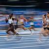 Sprinterin Lisa Kwayie zieht nach einem starken Lauf und 11,44 Sekunden  ins 100-Meter-Finale der Universiade 2019 in Neapel ein. 9. Juli, © Arndt Falter