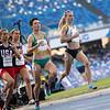 Die Mittelstrecklerinnen Christina Hering und Katharina Trost erreichen bei der Universiade 2019 in Neapel als zweit, bzw. zwölftschnellste die Halbfinalrennen über 800 Meter. 8. Juli 2019, © Arndt Falter