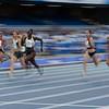 Sprinterin Lisa Kwayie gewinnt mit 11,39 Sekunden die Bronzemedaille für das deutsche Team bei der Universiade 2019 in Neapel. 9. Juli 2019 © Arndt Falter