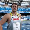 Bei der Universiade 2019 in Neapel gewinnt Henning Prüfer die Bronzemedaille im Diskuswurf. Maximilian Klaus verkauft sich mit Rang 12 unter Wert. 13. Juli 2019, © Arndt Falter