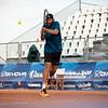 Tennisspieler Christoph Negritu verliert sein Viertelfinalspiel gegen den Taiwaner TSENG Chun-Hsin mit 0:2. 12. Juli 2019, © Arndt Falter