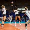 Die Volleyball-Damen scheiden mit 3:0 gegen Japan im Viertelfinale des Volleyballturniers der Universiade 2019 in Neapel aus. 9. Juli 2019, © Arndt Falter