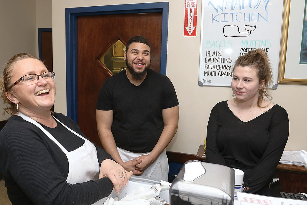 . A new restaurant, Whalom Kitchen has opened up where Ugly Omelet used to be in Lunenburg.  Talking about the new place on Thursday afternoon is cooks Denise Gokey and Jacory Carter with server Alexis Lowe. SENTINEL & ENTERPRISE/JOHN LOVE