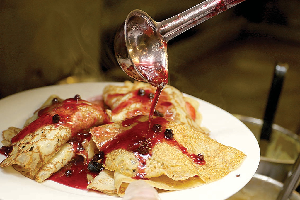 . A new restaurant, Whalom Kitchen has opened up where Ugly Omelet used to be in Lunenburg.  A mixed berry sauce is put on one of their top sellers the strawberries, blueberies and whipped cream crepes. SENTINEL & ENTERPRISE/JOHN LOVE