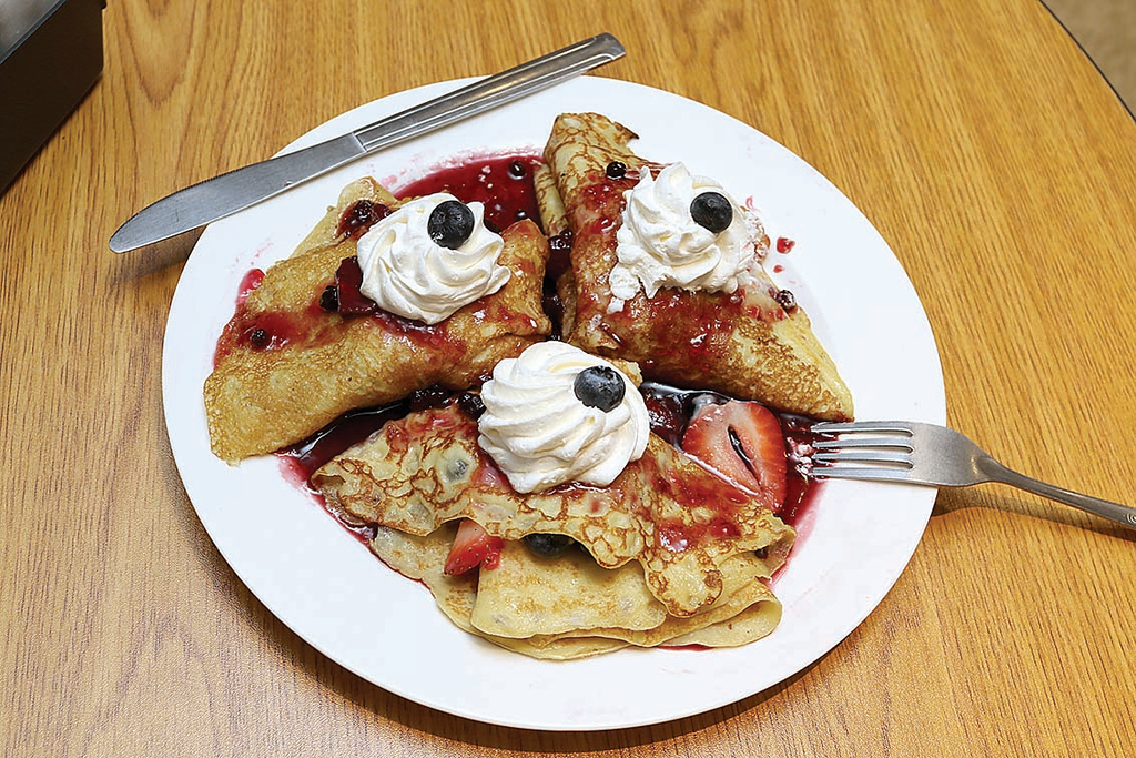 . A new restaurant, Whalom Kitchen has opened up where Ugly Omelet used to be in Lunenburg.  This is one of their best sellers right now, the strawberries, blueberies and whipped cream crepes. SENTINEL & ENTERPRISE/JOHN LOVE