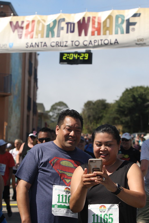. Wharf to Wharf. (Dan Coyro -- Santa Cruz Sentinel)