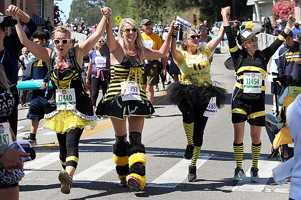 . Costumed runners are a big part of the Wharf to Wharf race.  (Dan Coyro -- Santa Cruz Sentinel)