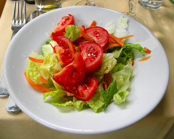 SALAD ACROSS FROM THE VATICAN