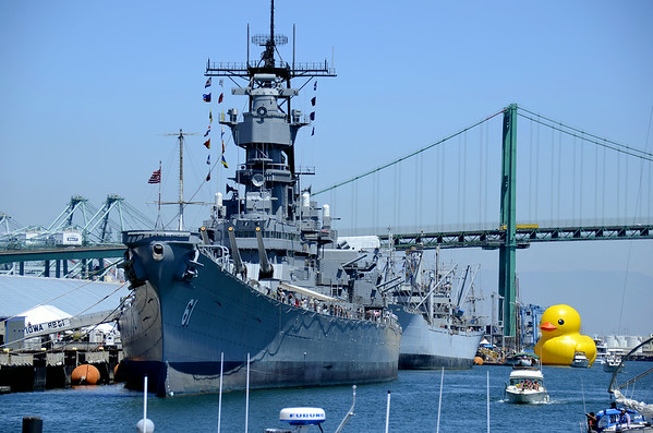 THE USS IOWA AND THE WORLD'S BIGGEST RUBBER DUCKIE!