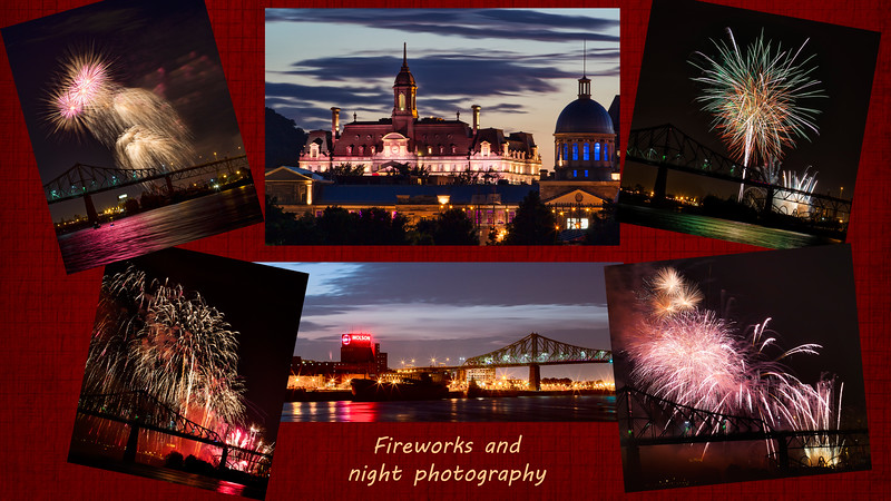 collage fireworks
