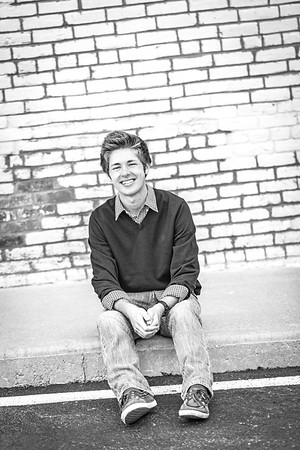 Clayton Senior Session-3b&w