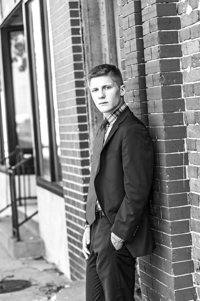 Eli Senior Session-26b&w