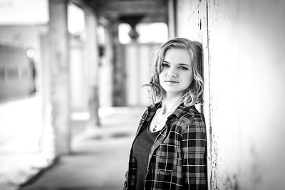 Emily Senior Session-55b&w