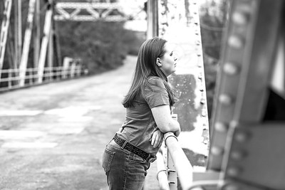 Tessa Senior Session-9b&w
